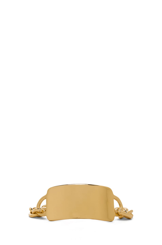 Image 1 of Jennifer Fisher Large ID Toggle Bracelet in Brass