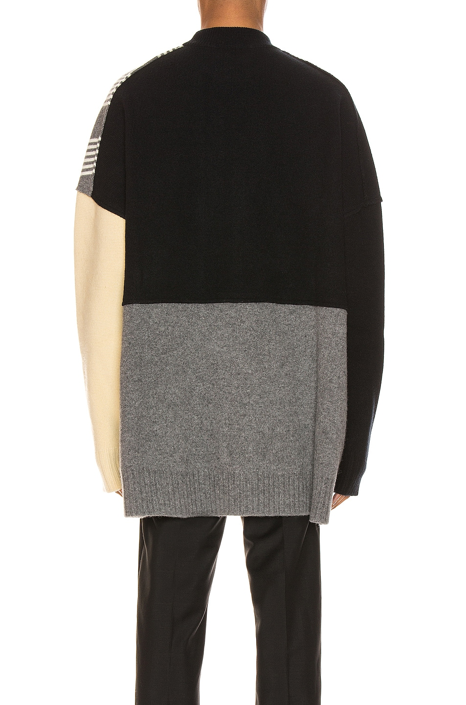 Image 4 of Jil Sander Panels Crewneck Sweater in Open Miscellaneous