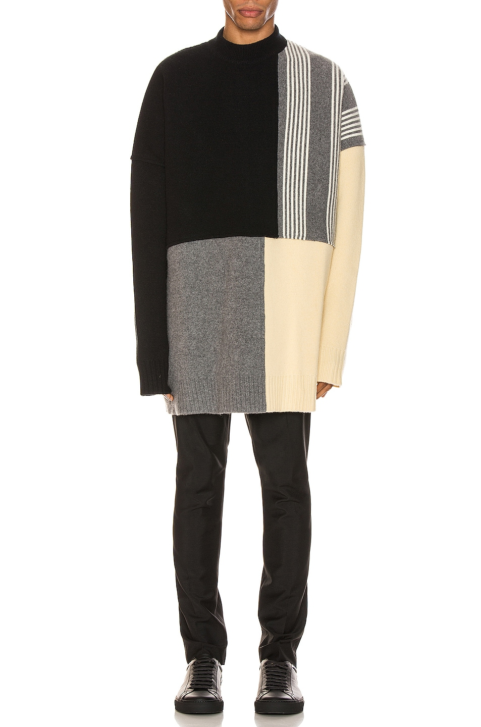 Image 5 of Jil Sander Panels Crewneck Sweater in Open Miscellaneous