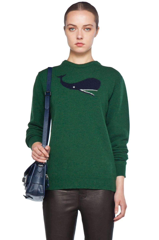 Image 1 of Jil Sander Whale Knit Sweater in Green