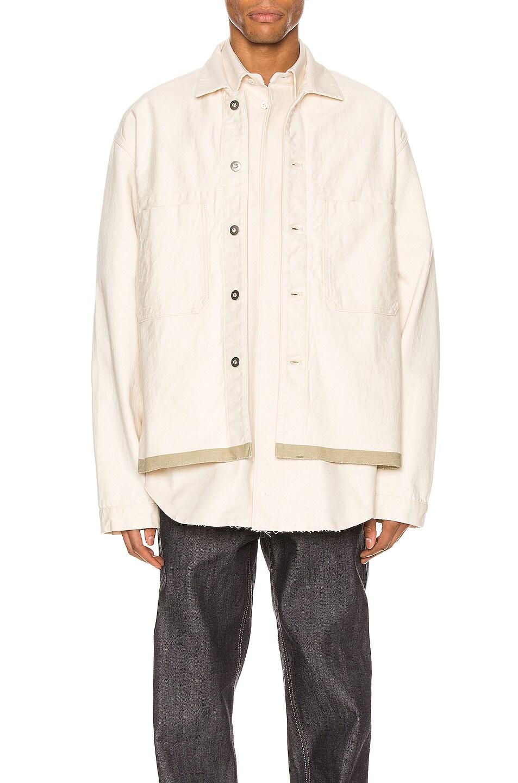Image 1 of Jil Sander Selvedge Workwear Jacket in Ecru