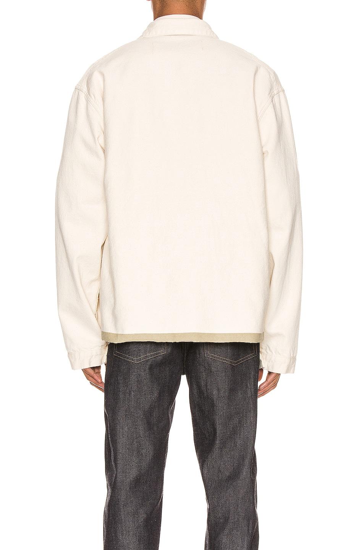 Image 3 of Jil Sander Selvedge Workwear Jacket in Ecru