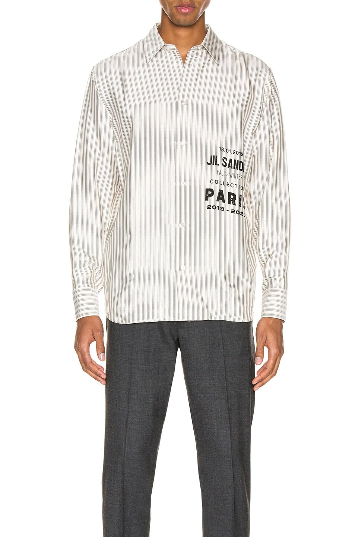 Image 1 of Jil Sander Logo Long Sleeve Shirt in Open Miscellaneous
