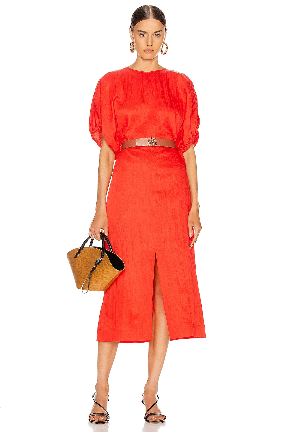 Image 1 of Jil Sander Lennox Dress in Chilli