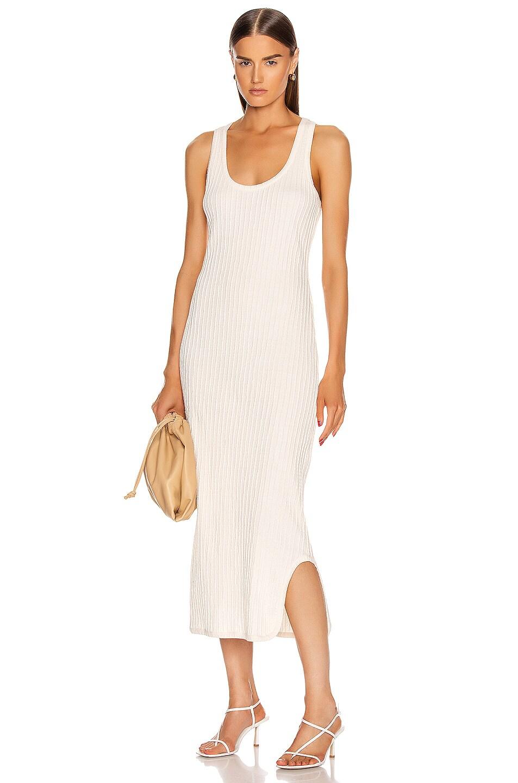 Image 1 of Jil Sander Pleated Tank Top Dress in Natural