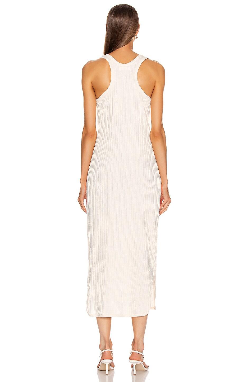Image 4 of Jil Sander Pleated Tank Top Dress in Natural