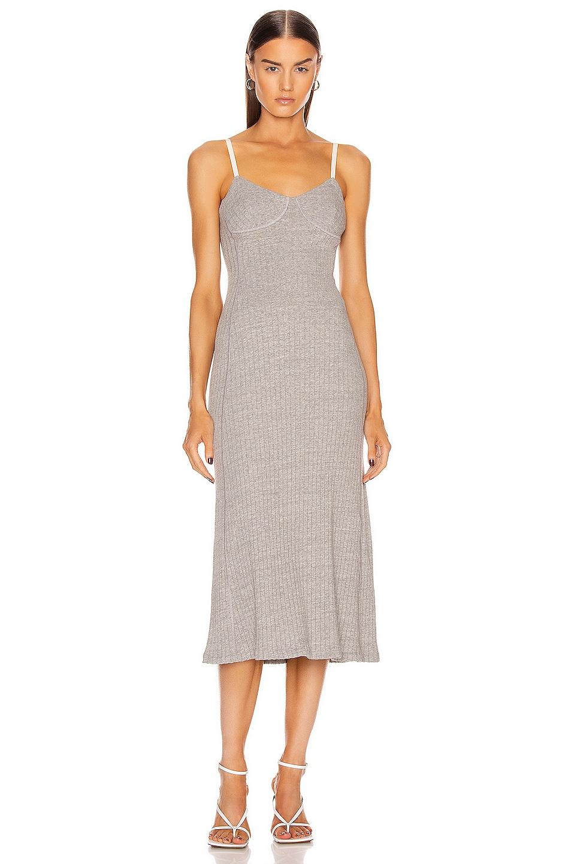 Image 1 of Jil Sander Jersey Dress in Light Pastel Grey