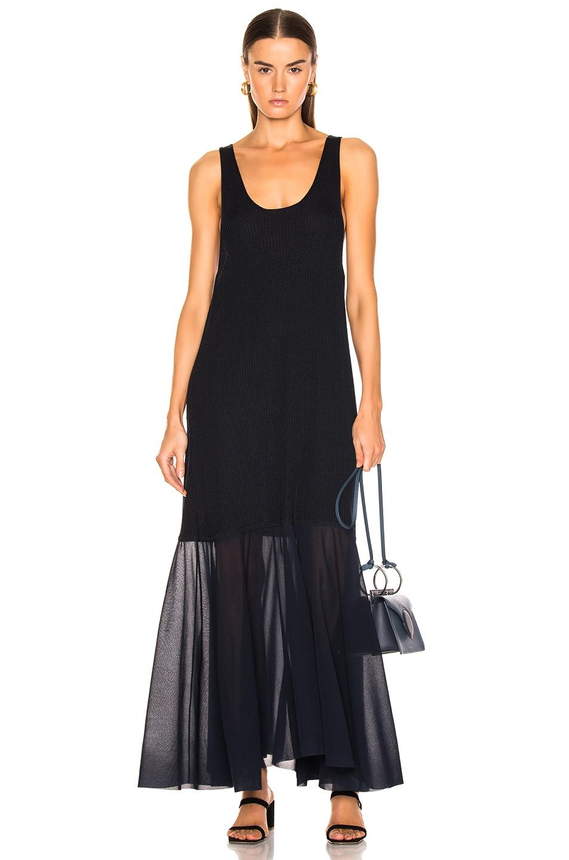 Image 1 of Jil Sander Scoop Neck Dress in Dark Blue
