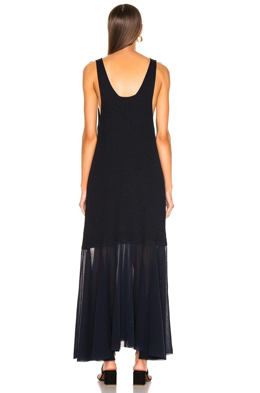 Image 3 of Jil Sander Scoop Neck Dress in Dark Blue
