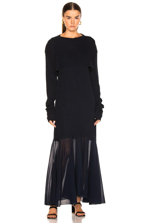 Image 4 of Jil Sander Scoop Neck Dress in Dark Blue