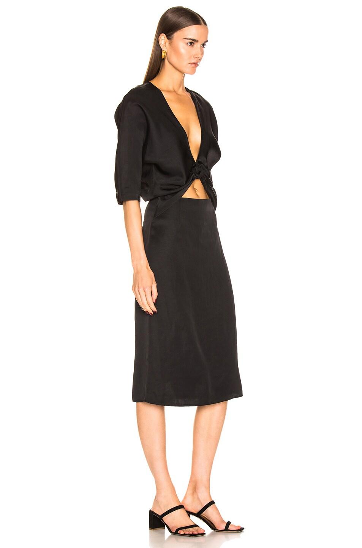 Image 2 of Jil Sander V Neck Cutout Dress in Black