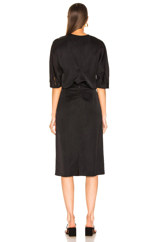 Image 3 of Jil Sander V Neck Cutout Dress in Black
