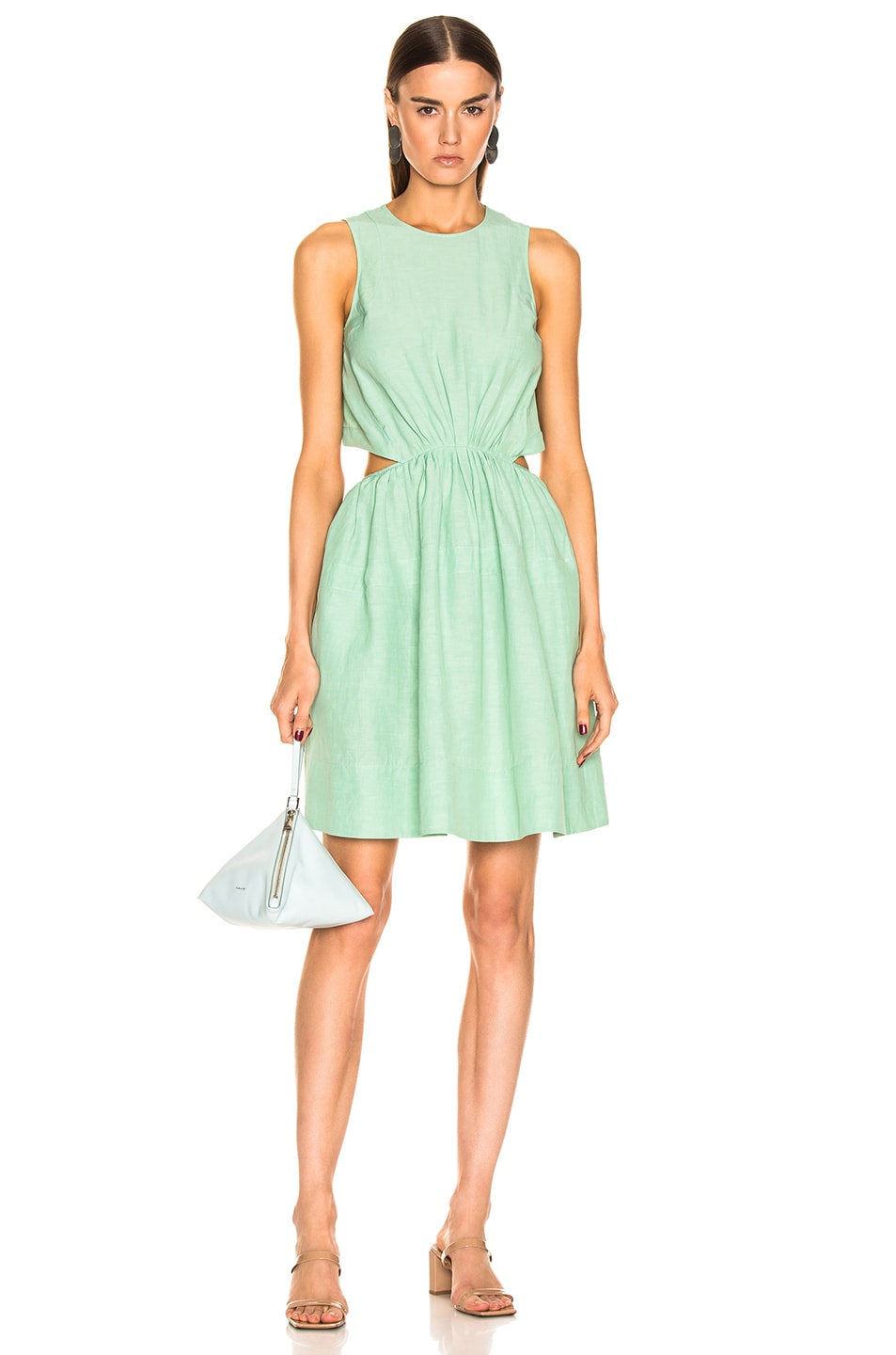 Image 1 of Jil Sander Sleeveless Dress in Light Pastel Green