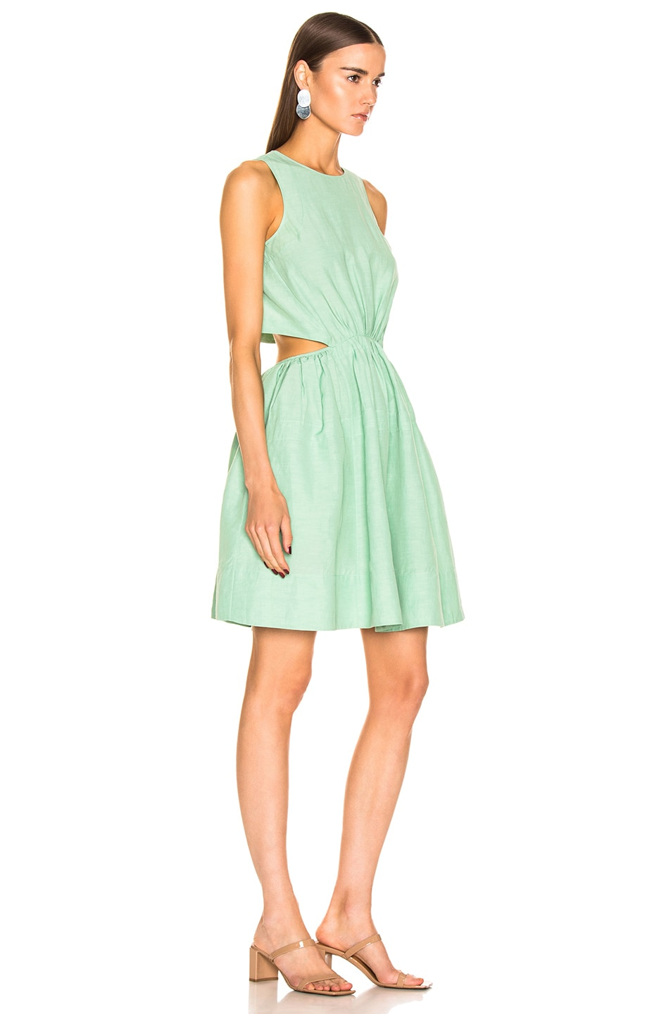 Image 2 of Jil Sander Sleeveless Dress in Light Pastel Green
