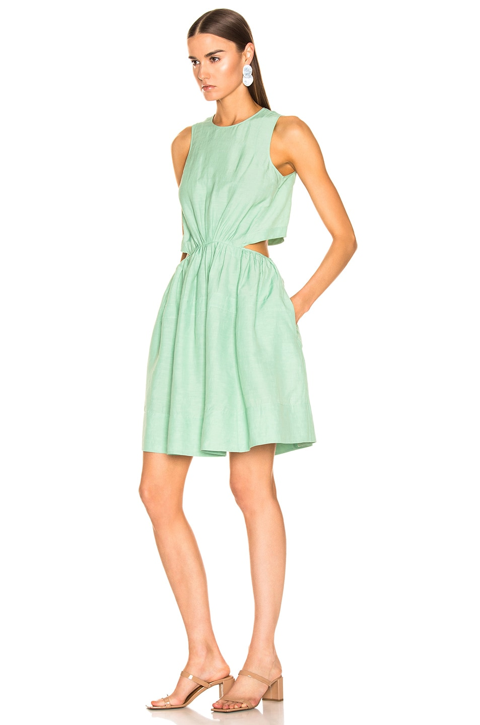 Image 3 of Jil Sander Sleeveless Dress in Light Pastel Green
