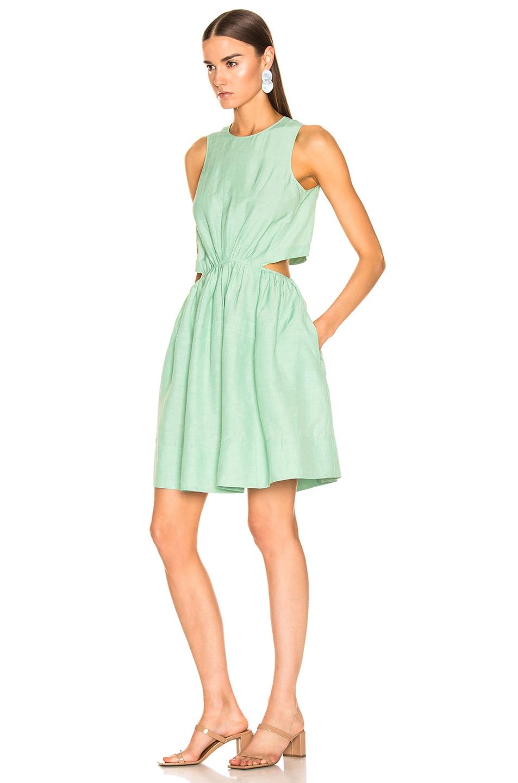 Image 3 of Jil Sander Sleeveless Dress in Light Pastel Green