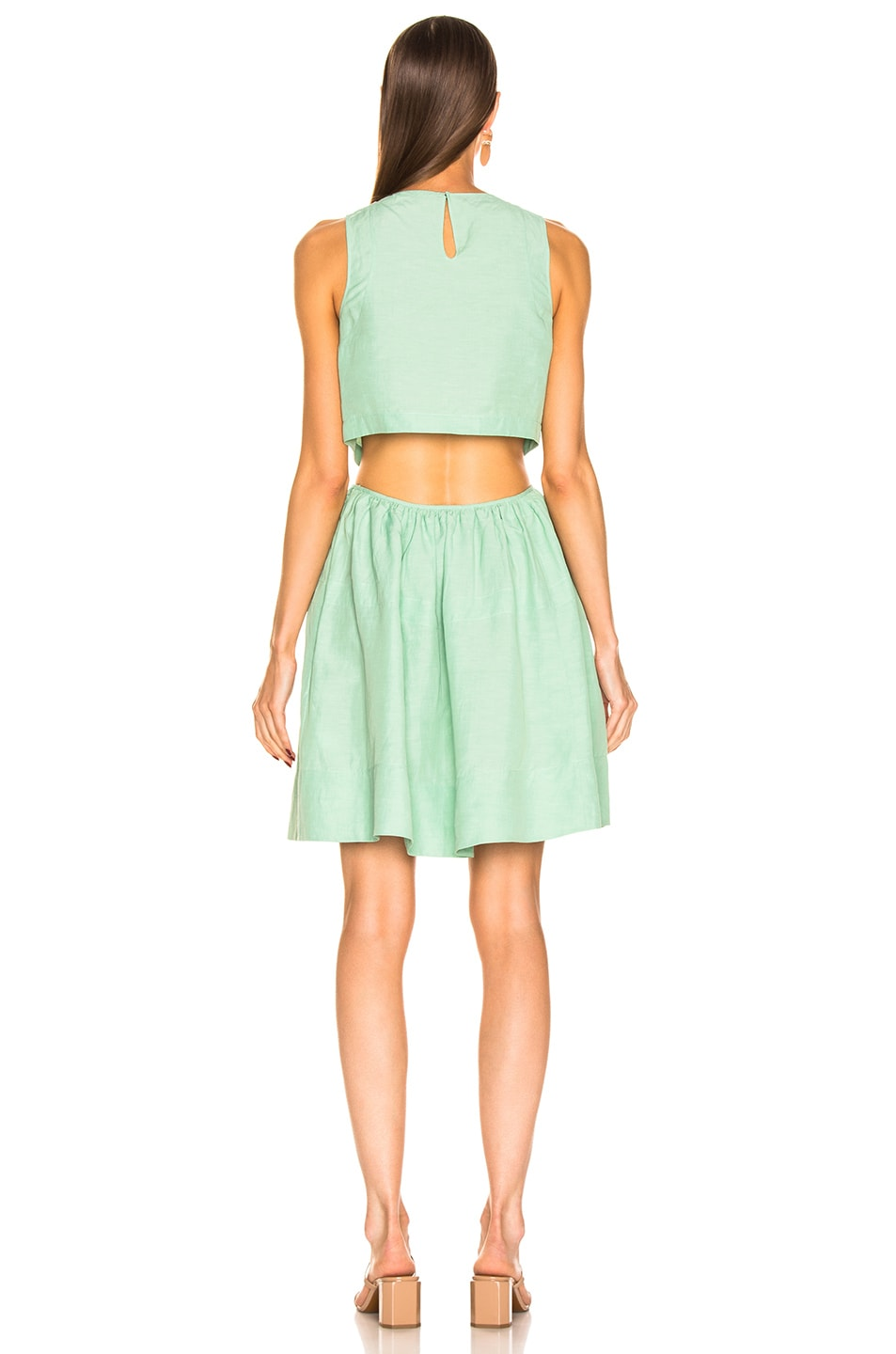 Image 4 of Jil Sander Sleeveless Dress in Light Pastel Green