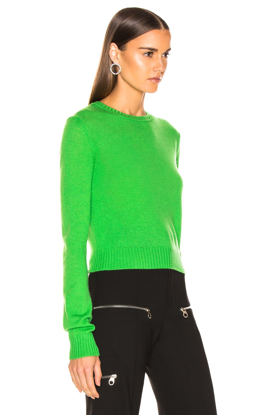 Image 2 of Jil Sander Simple Sweater in Bright Green