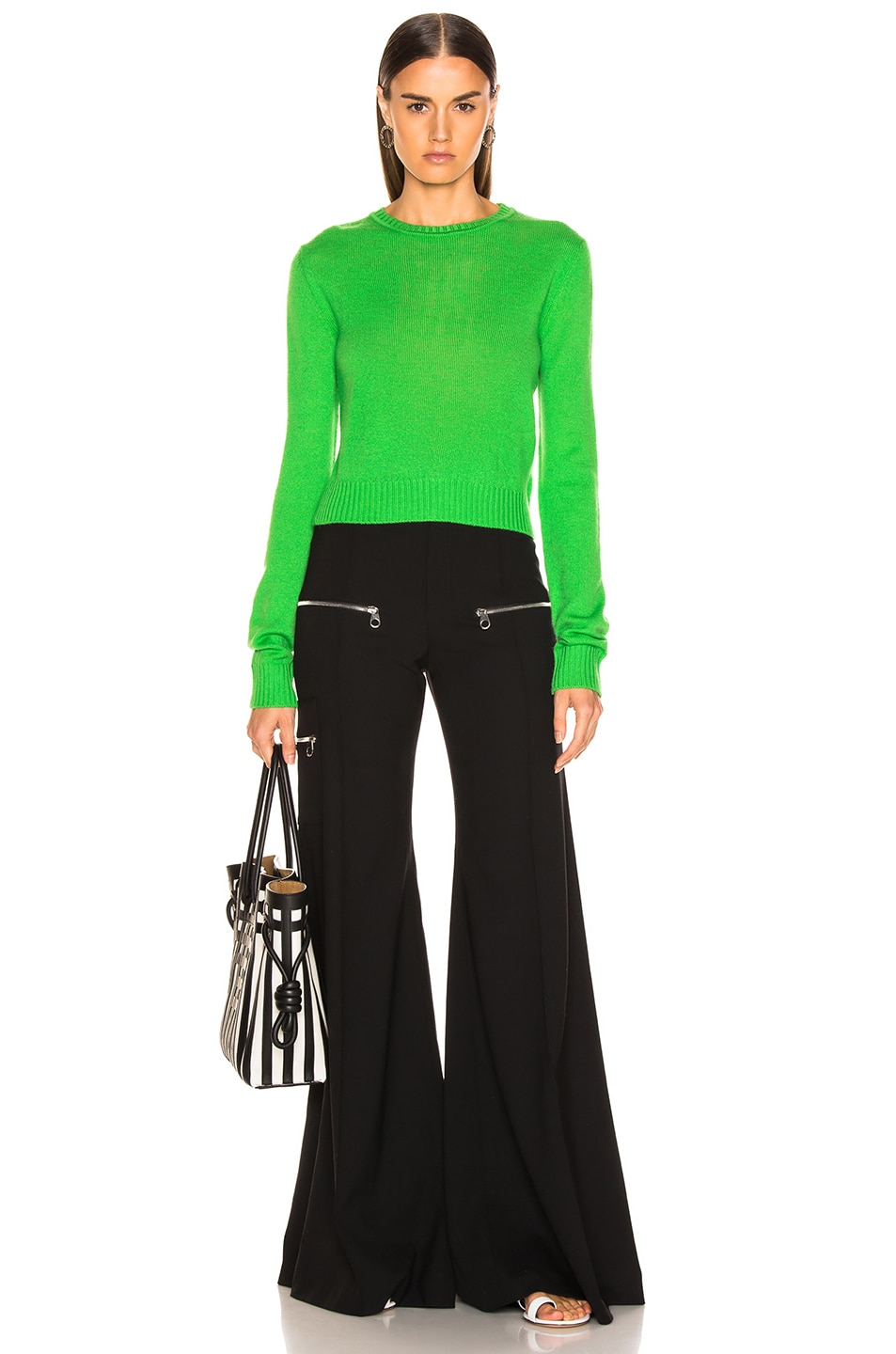 Image 4 of Jil Sander Simple Sweater in Bright Green
