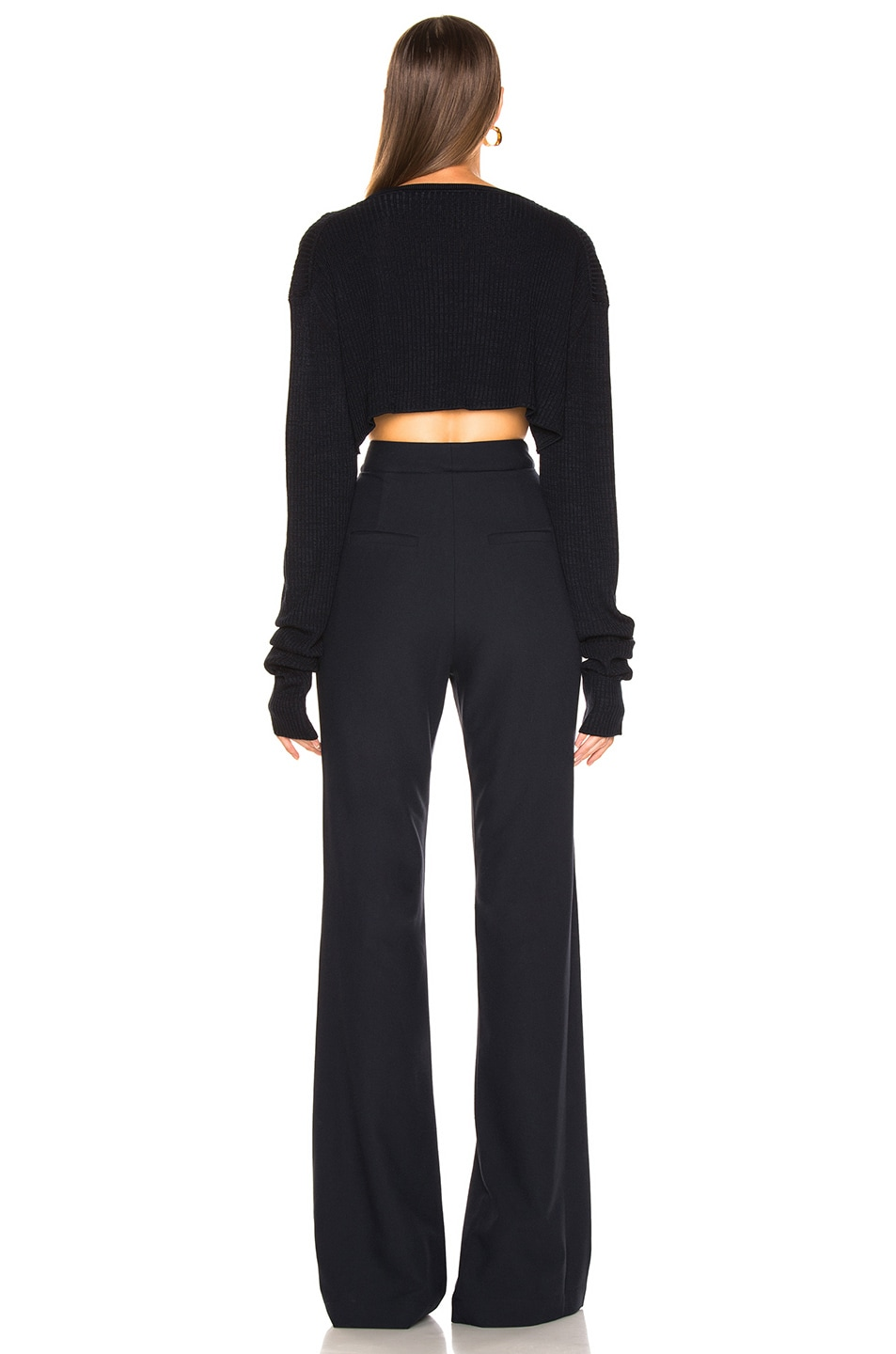 Image 4 of Jil Sander Cropped Sweater in Dark Blue
