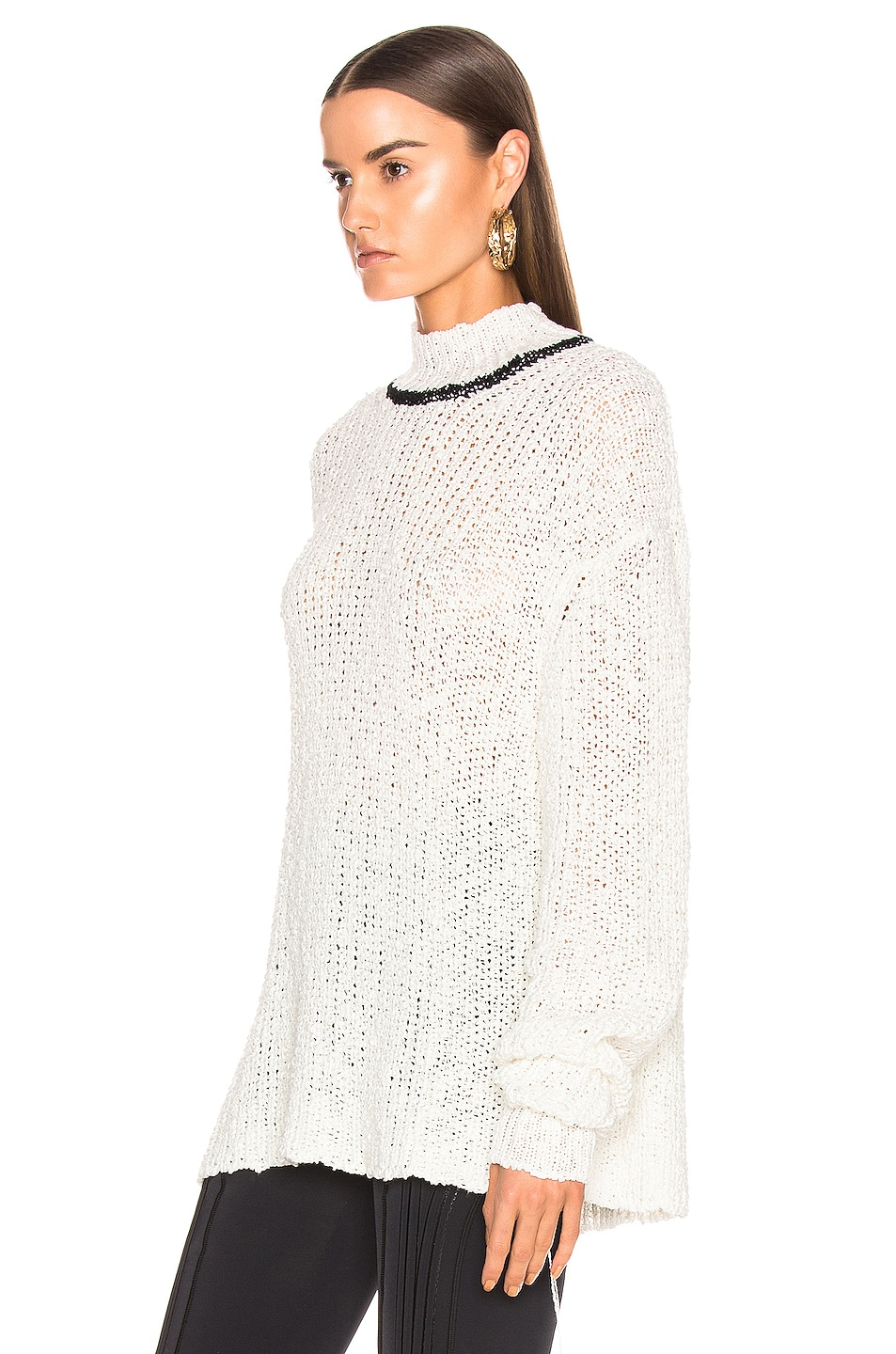 Image 3 of Jil Sander Mock Neck Sweater in White