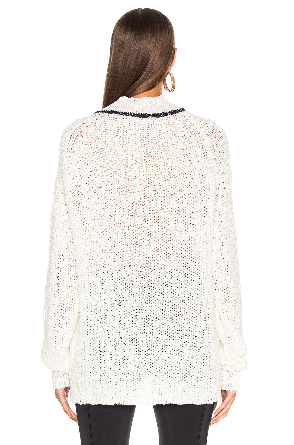 Image 4 of Jil Sander Mock Neck Sweater in White