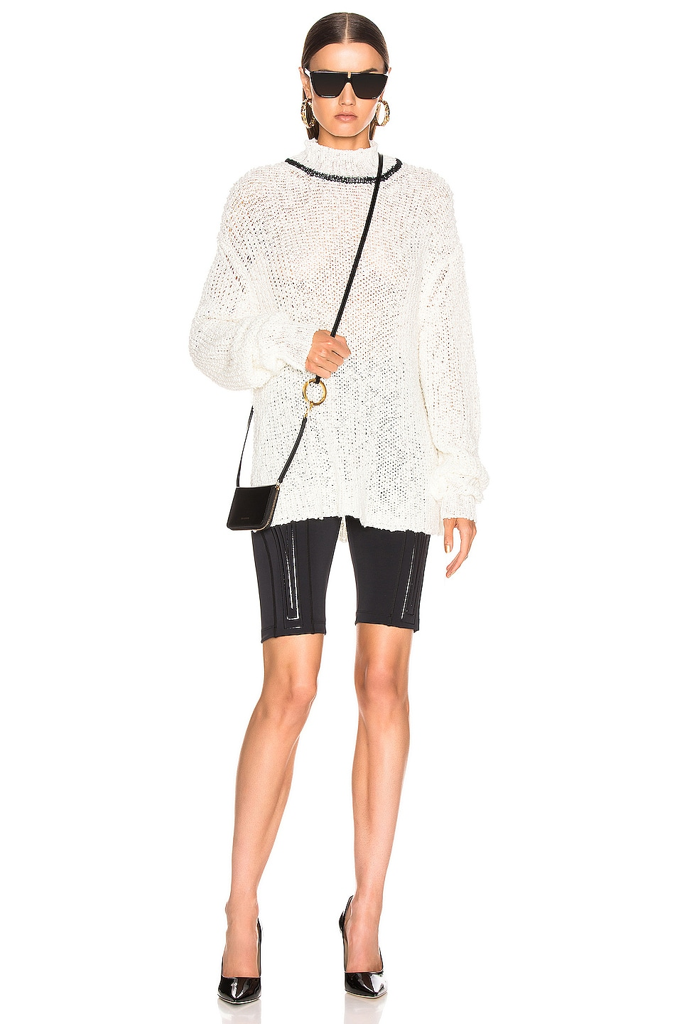 Image 5 of Jil Sander Mock Neck Sweater in White