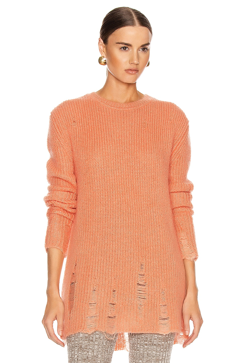Image 1 of Jil Sander Long Sleeve Sweater in Coral