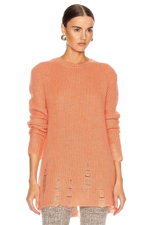 Image 1 of Jil Sander Long Sleeve Sweater in Coral