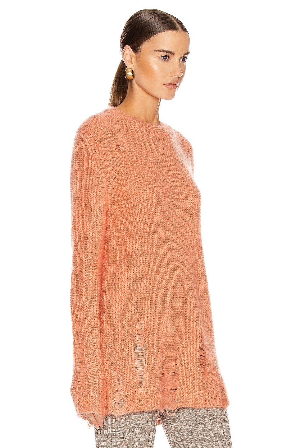 Image 2 of Jil Sander Long Sleeve Sweater in Coral