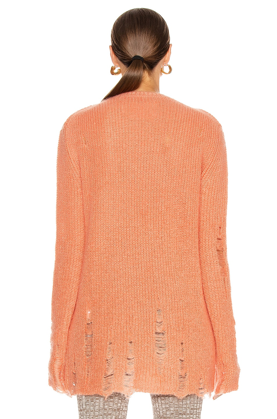 Image 3 of Jil Sander Long Sleeve Sweater in Coral