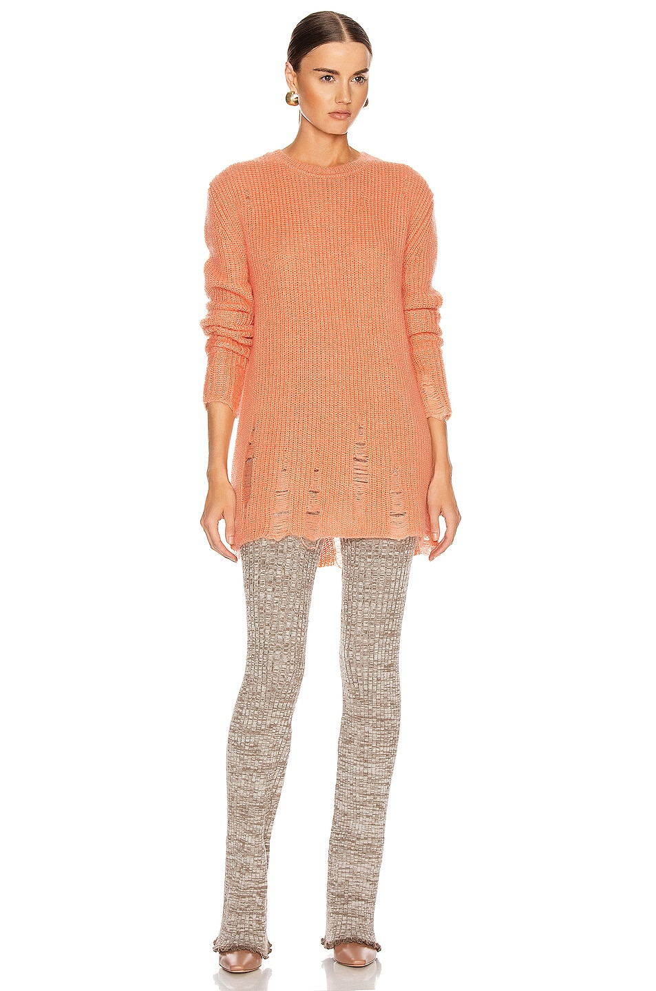 Image 4 of Jil Sander Long Sleeve Sweater in Coral
