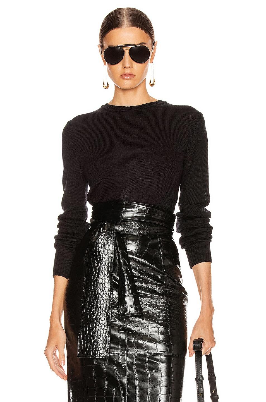 Image 1 of Jil Sander Crewneck Long Sleeve Sweater in Black