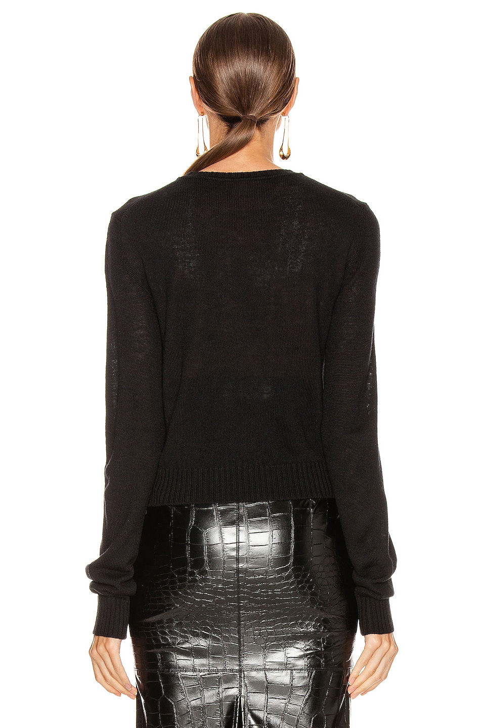 Image 3 of Jil Sander Crewneck Long Sleeve Sweater in Black