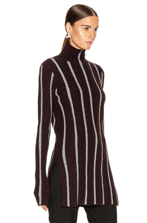 Image 2 of Jil Sander High Neck Long Sleeve Sweater in Stripe