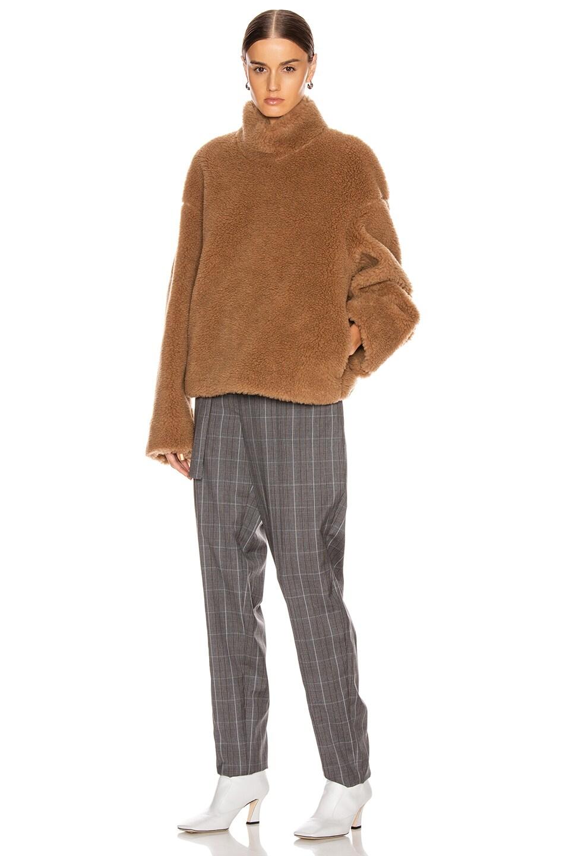 Image 5 of Jil Sander Turtleneck Two Way Sweatshirt in Peanuts