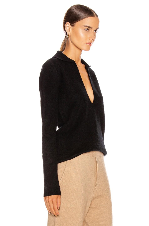 Image 2 of Jil Sander Deep V Sweater in Black