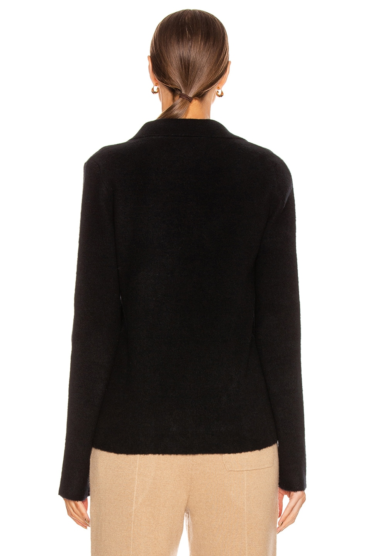 Image 3 of Jil Sander Deep V Sweater in Black