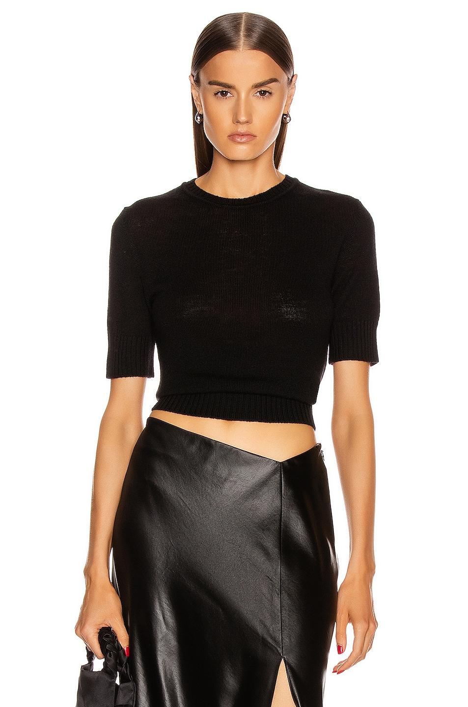 Image 1 of Jil Sander Short Sleeve Sweater in Black