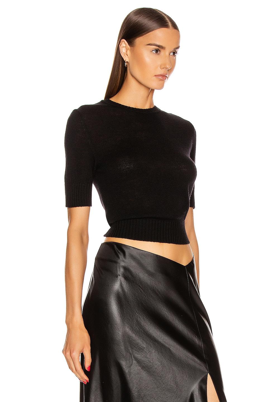 Image 2 of Jil Sander Short Sleeve Sweater in Black