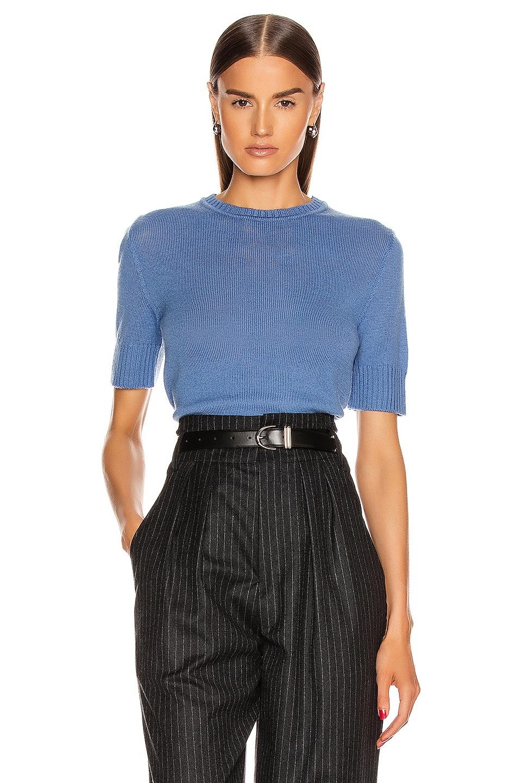 Image 1 of Jil Sander Short Sleeve Sweater in Medium Blue