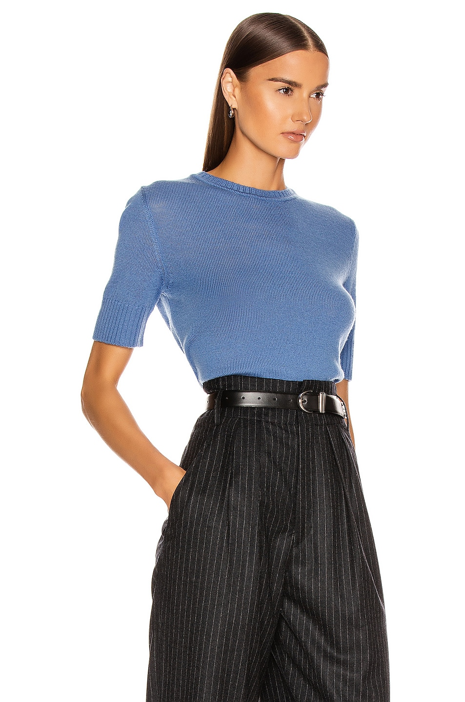 Image 2 of Jil Sander Short Sleeve Sweater in Medium Blue