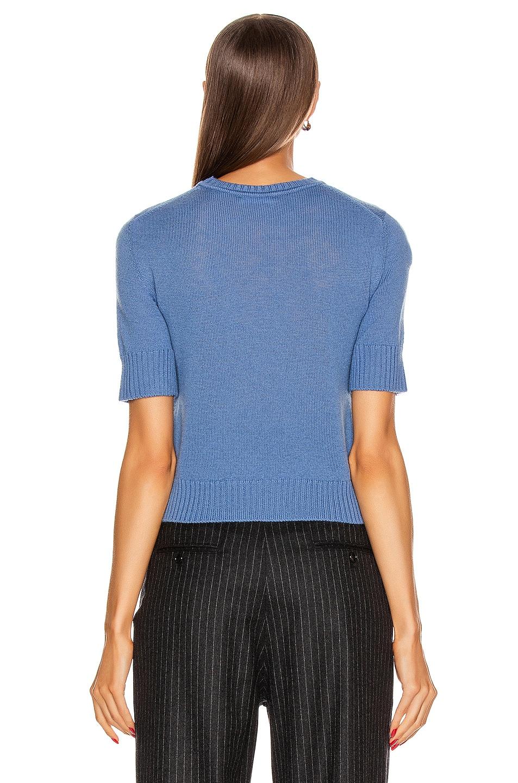 Image 3 of Jil Sander Short Sleeve Sweater in Medium Blue