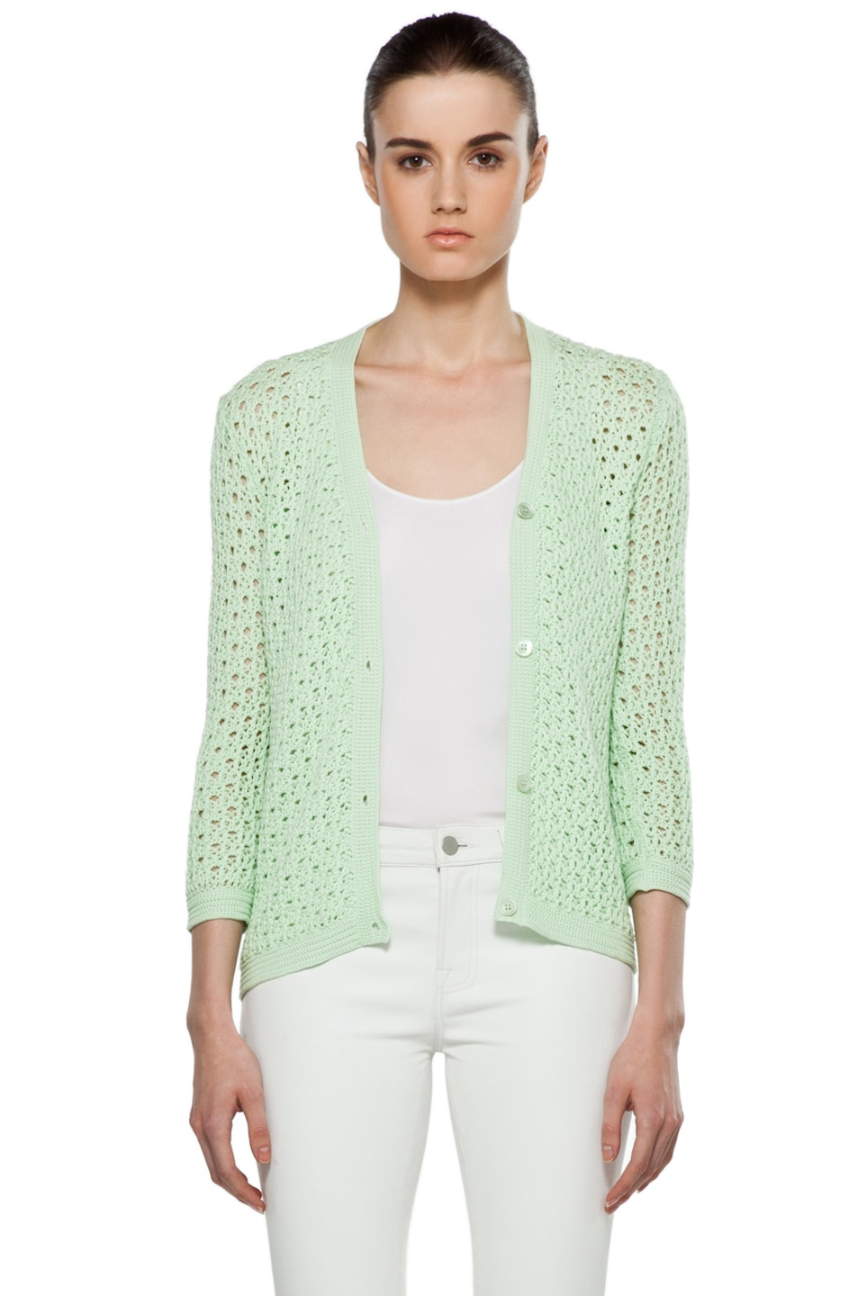 Image 1 of Jil Sander Cardigan in Mint