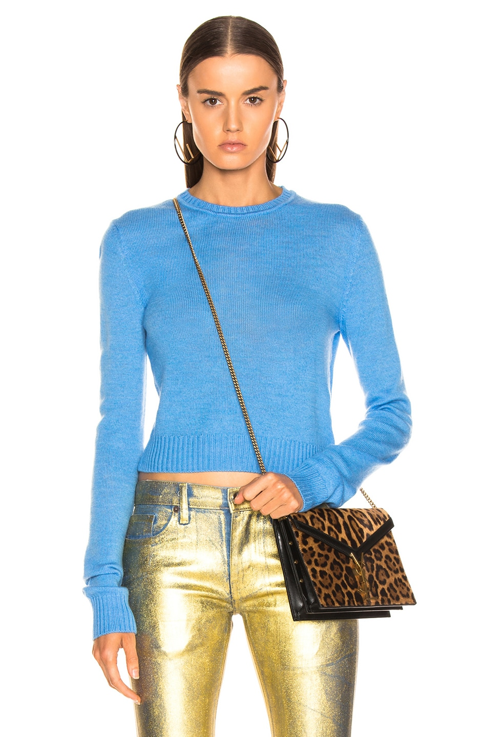Image 1 of Jil Sander Simple Sweater in Bright Blue