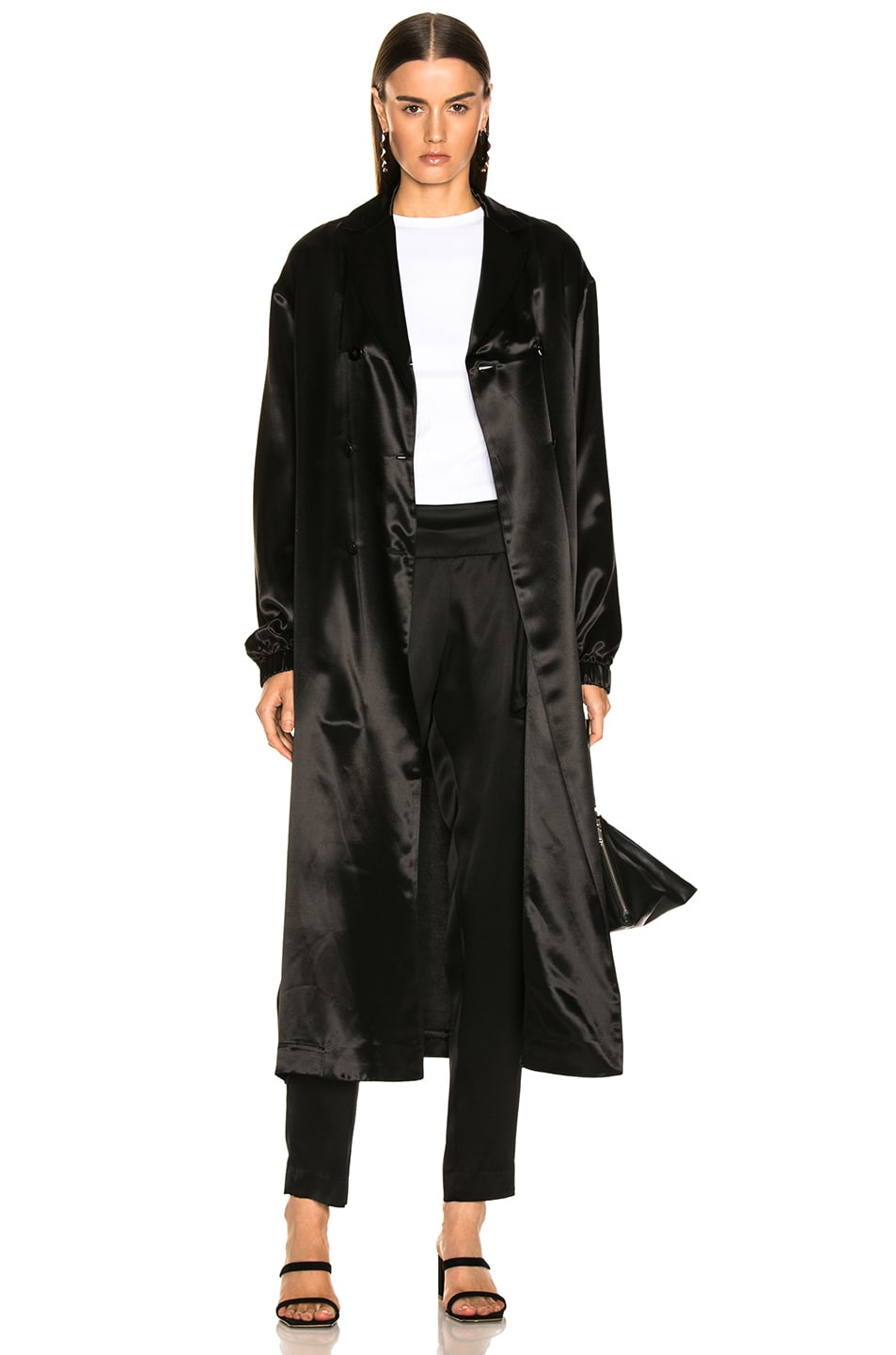 Image 2 of Jil Sander Logo Robe in Black