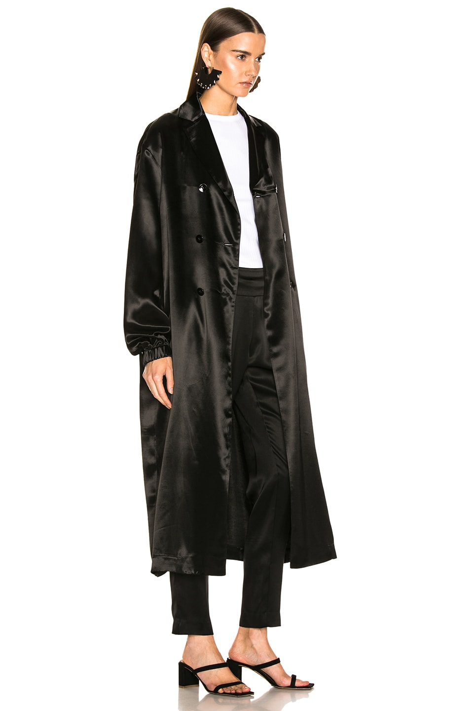 Image 4 of Jil Sander Logo Robe in Black