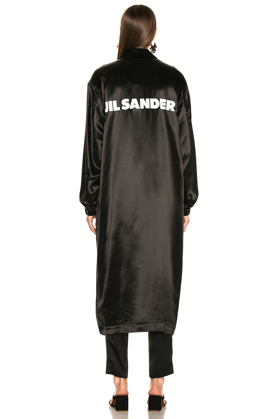Image 5 of Jil Sander Logo Robe in Black