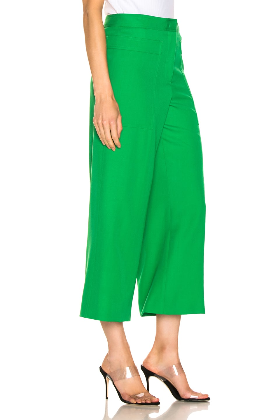 Image 2 of Jil Sander Gaston Pant in Bright Green