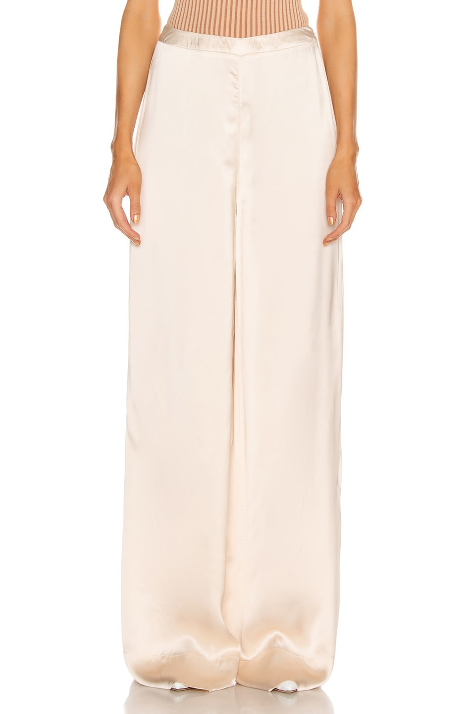 Image 1 of Jil Sander High Waisted Palazzo Pant in Rose